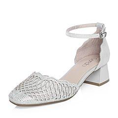 Senda/森达2018夏季新款专柜同款时尚优雅闪钻女凉鞋4CW01BK8