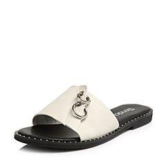 Senda/森达2018夏季新款专柜同款时尚韩版外穿平底女拖鞋VIJ33BT8