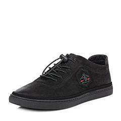 Senda/森达2018春季新款专柜同款磨砂皮男板鞋休闲鞋1QN25AM8