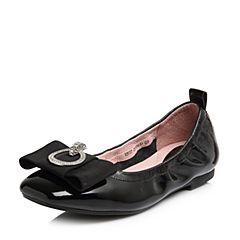 Senda/森达2018春季新款专柜同款甜美漆牛皮平底女单鞋VBI17AQ8