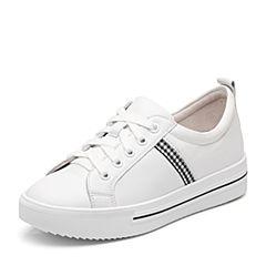 Senda/森达2018秋季新款专柜同款韩版时尚休闲女小白鞋VNN25CM8