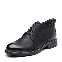 Senda/森达2018冬季新款专柜同款时尚韩版方跟男休闲短靴1PY10DD8
