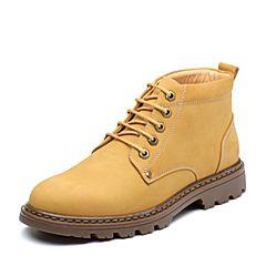 Senda/森达2018冬季新款专柜同款潮流户外休闲男马丁靴1PZ06DD8