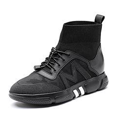 Senda/森达2018冬季新款专柜同款运动风休闲女袜靴短靴4FA01DD8