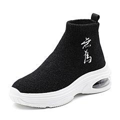 Senda/森达2018冬季新款专柜同款舒适运动风女休闲袜靴4FB02DD8
