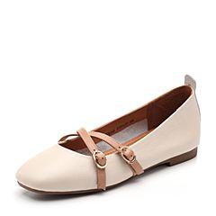 Senda/森达2018秋季新款专柜同款牛皮革低跟玛丽珍女单鞋VBIA8CQ8