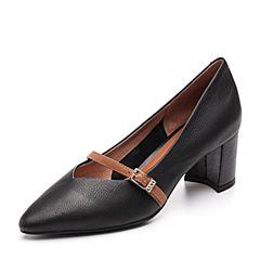 Senda/森达2018秋季新款专柜同款性感玛丽粗高跟珍女单鞋3JQ01CQ8