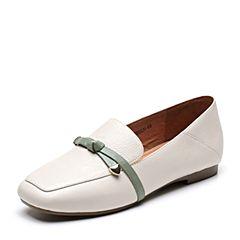 Senda/森达秋季新款专柜同款休闲方头乐福鞋女单鞋VBI22CM8