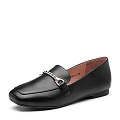 Senda/森达2019春季新款专柜同款通勤简约舒适平底女单鞋VBIB4AM9