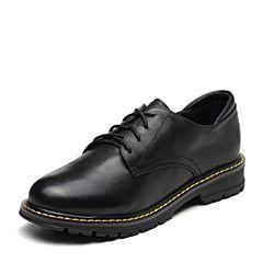 Senda/森达2019春季新款专柜同款学院风舒适女休闲小皮鞋VTT20AM9