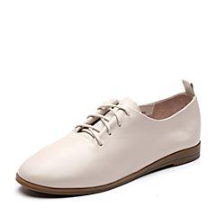 Senda/森达2019春季新款专柜同款舒适平底女休闲皮鞋VTS20AM9