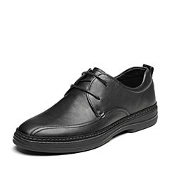 Senda/森达2019春季新款专柜同款户外舒适男休闲皮鞋1DA15AM9