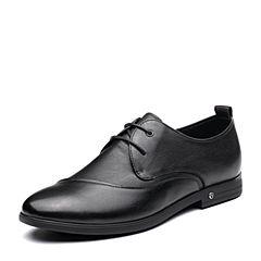 Senda/森达2019春季新款专柜同款通勤系带商务男皮鞋1DC16AM9