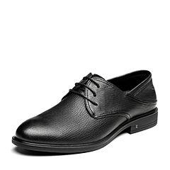 Senda/森达2019春季新款专柜同款时尚英伦系带商务男鞋1DQ12AM9