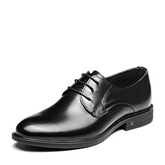 Senda/森达2019春季新款专柜同款时尚系带方跟商务男鞋1DS15AM9