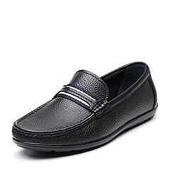 Senda/森达2019春季新款专柜同款舒适休闲一?#35834;?#30007;豆豆鞋1DG12AM9