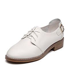 Senda/森达2019春季新款专柜同款潮流舒适休闲女单鞋3KZ01AM9