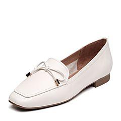 Senda/森达2019春季新款专柜同款简?#20339;?#38498;风女皮单鞋3KY01AM9