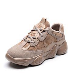 Senda/森达2019春专柜同款网红椰子鞋女运动跑步老爹鞋3KX01AM9