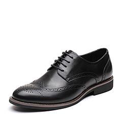 Senda/森达2019春季新款英伦复古布洛克款式商务男鞋16663AM9