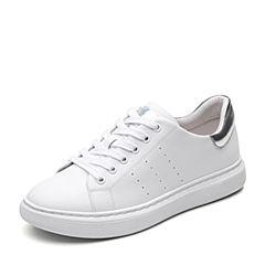 Senda/森达2019春季新款韩版街头学生休闲平底女小白鞋XBX19AM9