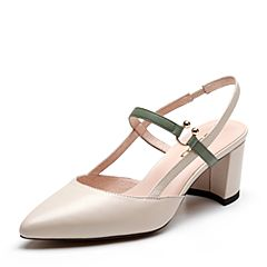 Senda/森达2019夏季新款专柜同款时尚欧美粗高跟女凉鞋4JZ10BH9