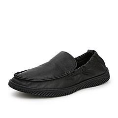 Senda/森達2019秋季新款專柜同款舒適一腳蹬休閑男豆豆鞋1VR06CM9