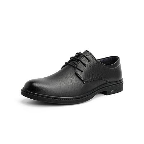 森達2021秋季新款商場同款通勤方跟商務正裝男鞋1VN06CM1