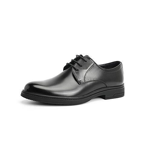 森達2021秋季新款商場同款通勤時尚方跟商務男正裝鞋1VO22CM1