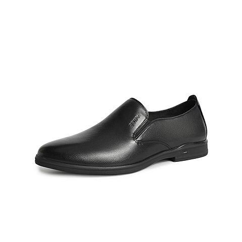 森達2021秋季新款商場同款套腳舒適平跟商務正裝男皮鞋1VL18CM1