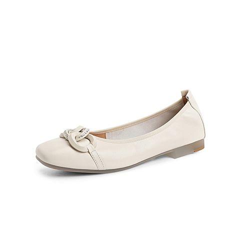 森達2021秋季新款商場同款簡約舒適平底休閑女奶奶鞋3WY01CQ1
