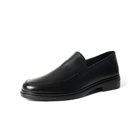 森達2021秋季新款商場同款一腳蹬通勤舒適商務男皮鞋V9O11CM1