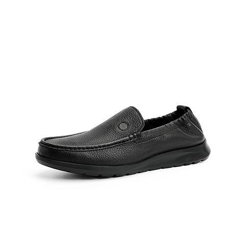 森達2021秋季新款商場同款舒適一腳蹬平跟男休閑豆豆鞋41001CM1