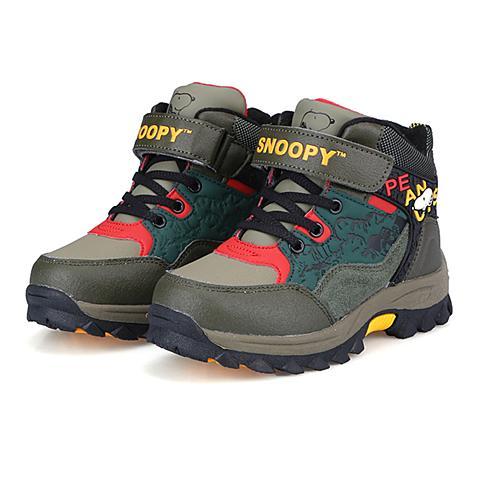 snoopy/史努比童鞋加绒保暖儿童运动鞋防滑耐磨户外鞋儿童棉鞋大童鞋 S915926