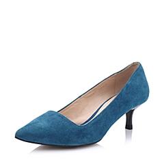 STACCATO/思加图春季专柜同款女士兰色羊绒面皮女皮鞋9OB09AQ4