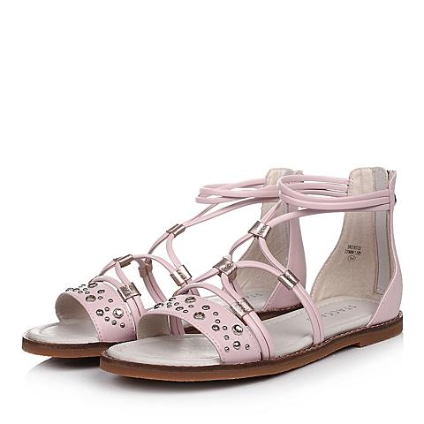 STACCATO/思加图童鞋2015夏季专柜同款超纤皮粉色女中童凉鞋93723