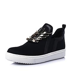 STACCATO/思加图春季专柜同款黑色弹力布女鞋9UI09AM5