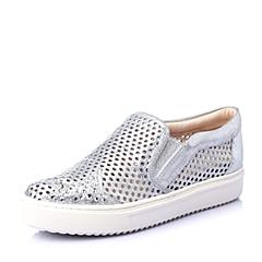 STACCATO/思加图春季专柜同款银色羊绒皮女鞋(冲孔)9UI07AM5