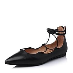 STACCATO/思加图春季专柜同款黑色牛皮女单鞋9UG21AQ6