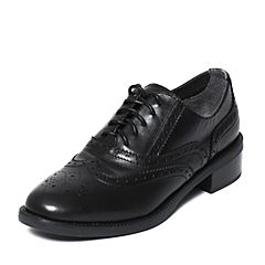 STACCATO/思加图秋季专柜同款黑色牛皮女鞋9RA67CM6