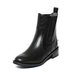 STACCATO/思加图冬季专柜同款黑色牛皮女靴9RA69DD6