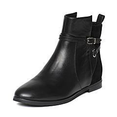 STACCATO/思加图冬季专柜同款黑色牛皮女靴9B804DD6