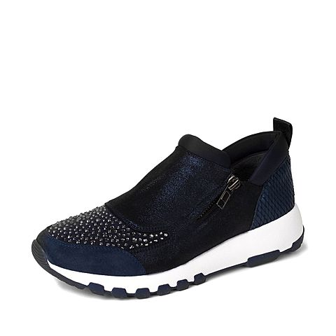 STACCATO/思加图秋季专柜同款蓝色女休闲满帮鞋9YC12CM6