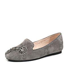 STACCATO/思加图2017春季专柜同款灰色羊皮女单鞋9E204AM7
