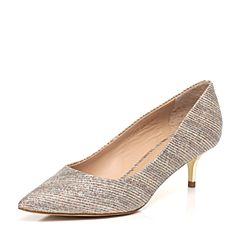 STACCATO/思加图春季专柜同款亮片布女单鞋9YD08AQ7