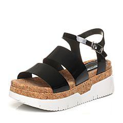 STACCATO/思加图夏季专柜同款牛皮女凉鞋9F304BL7