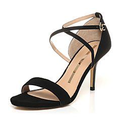 SATCCATO/思加图夏季专柜同款羊绒皮女凉鞋9VN12BL7