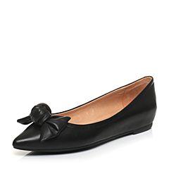 STACCATO/思加图春季专柜同款黑色羊皮浅口女单鞋K7101AQ7