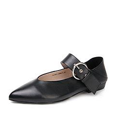 STACCATO/思加图2017春季黑色羊皮女皮单鞋L4101AQ7