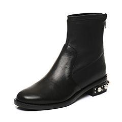 STACCATO/思加图2017年秋季专柜同款短筒女皮靴9RA93DD7